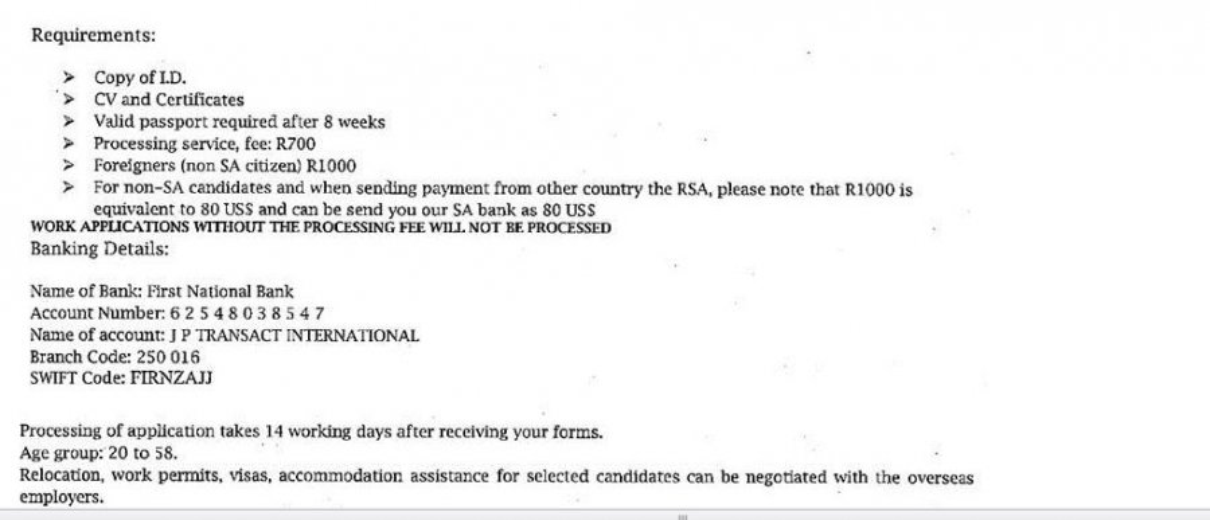 Complaint-review: JP Employment - FRAUD. Photo #2