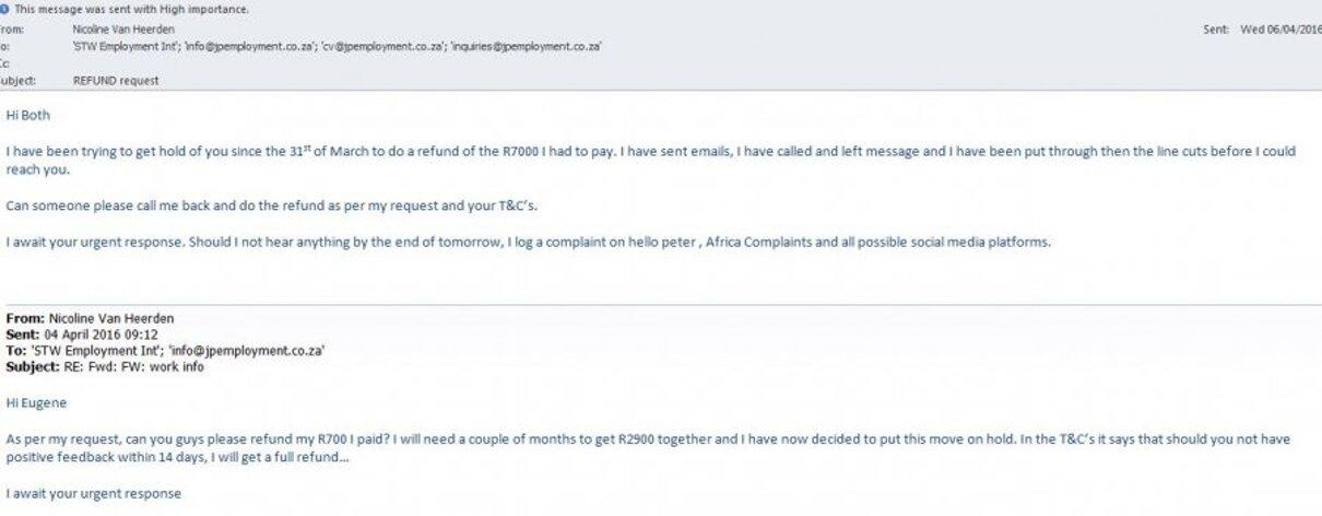 Complaint-review: JP Employment - FRAUD. Photo #3