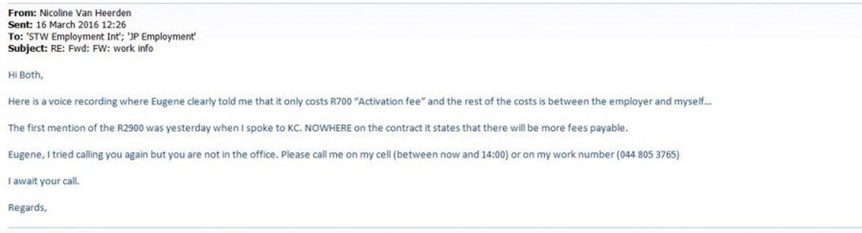 Complaint-review: JP Employment - FRAUD. Photo #1